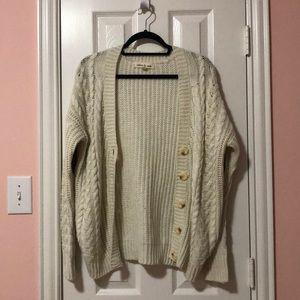 Olive & Oak Cream Knit Cardigan